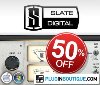 Slate Digital 50% off at Plugin Boutique