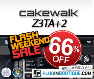 Cakewalk Z3TA+2 66% off sale at Plugin Boutique