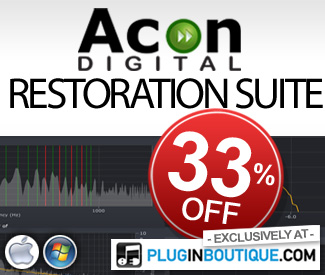 Acon Digital Restoration Suite 33% off at Plugin Boutique