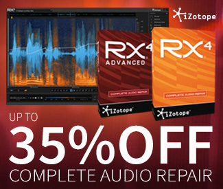 iZotope RX 4 sale at Plugin Boutique