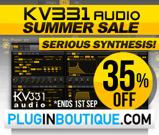 KV331 Audio Synthmaster 35% off Summer Sale