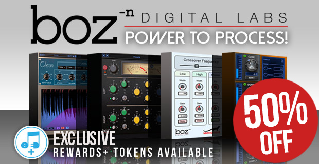 Boz Digital Sale: Save 50% off exclusively at Plugin Boutique