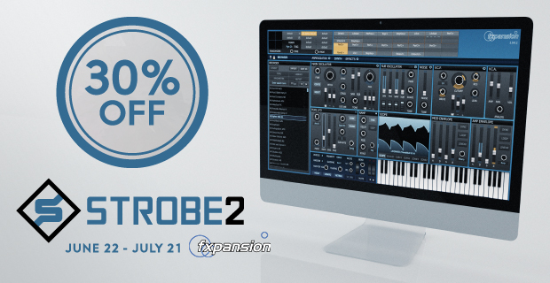 FXpansion Strobe2 Sale: Save 30% off at Plugin Boutique