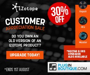 300x250 izotope customer appreciation sale pluginboutique