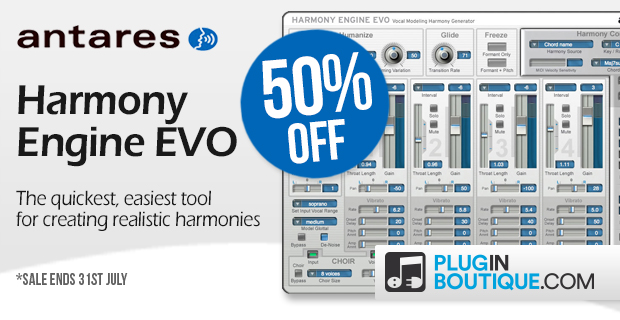 Antares Harmony Engine Sale: Save 50% off at Plugin Boutique
