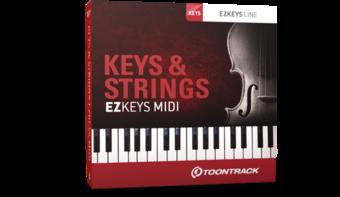 EZkeys Keys & Strings MIDI Pack
