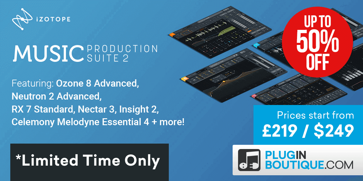 1200x600 izotope music production suite 2 out now banners