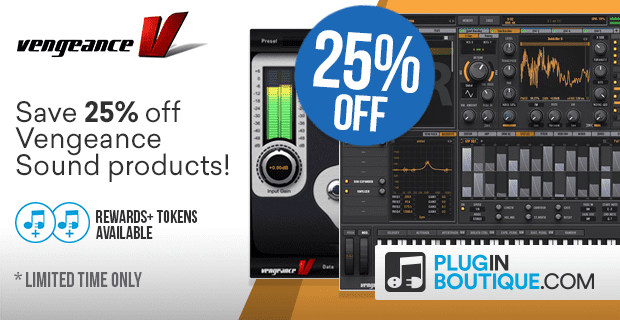 Vengeance Sound Sale Black Friday Sale: Save at Plugin Boutique