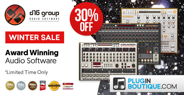 D16 Holiday Sale, save 30% off at Plugin Boutique