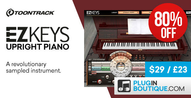 Toontrack EZkeys Upright Piano Sale, save 80% off at Plugin Boutique