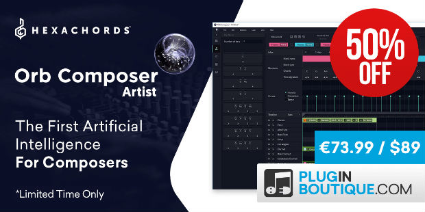 Hexachords Orb Composer Artist Sale, save 50% off at Plugin Boutique