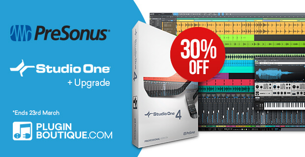 Presonus Studio One V4, save 30% off at Plugin Boutique