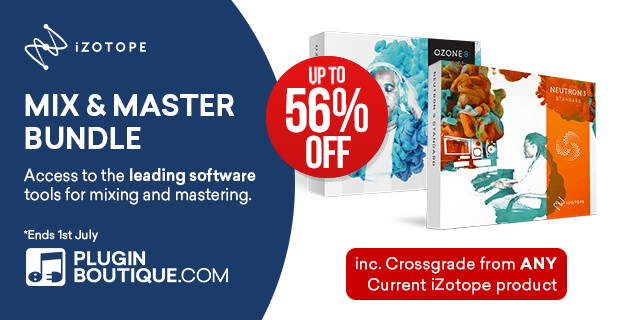 iZotope Mix & Master Bundle Intro Sale, save up to 56% off at Plugin Boutique