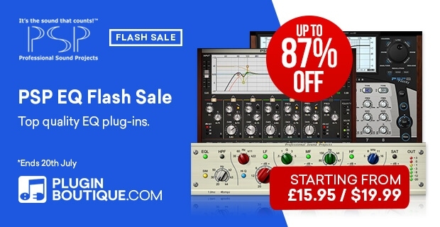 PSP EQ Flash Sale, Save up to 87% off at Plugin Boutique