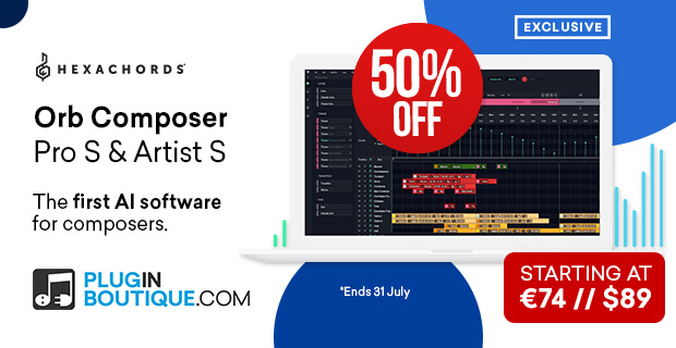 Hexachords Orb Composer Artist and Pro Sale (Exclusive), save 50% off at Plugin Boutique