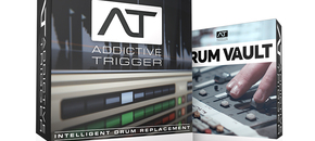 Addictive trigger   drum vault bundle   box shot pluginboutique